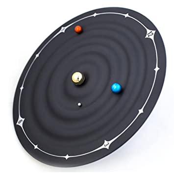 LLL-Ltd órbita del Planeta Reloj Magnético de la Galaxia de la Bola del Reloj Montado en la Pared o en el Escritorio 22 * 8cm: Amazon.es: Hogar