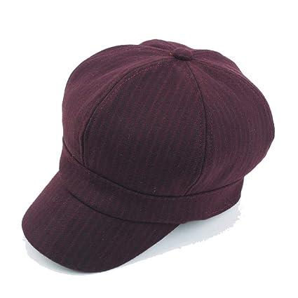JDDRCASE Sombreros de Moda Gorras, Sombrero de Boina Gorro de Lana de otoño, para