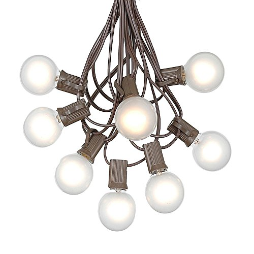 Patio String Lights Frosted Globe