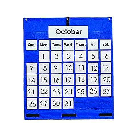 Carson Dellosa Monthly Calendar Pocket Chart Pocket Chart (5605) Free Shipping