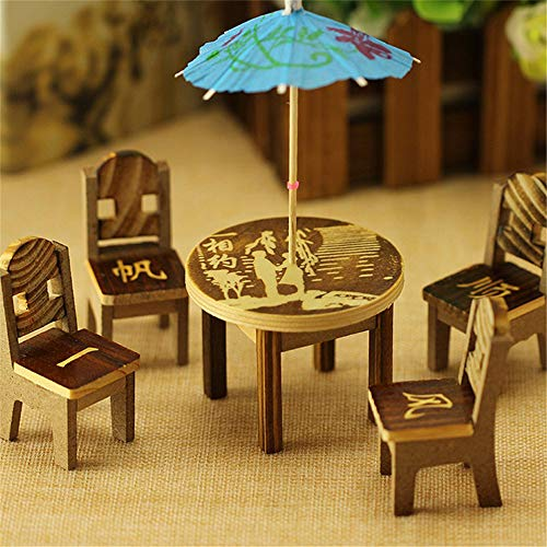 Meubles BulzEU Salon de Jardin Set Miniature Meubles ...