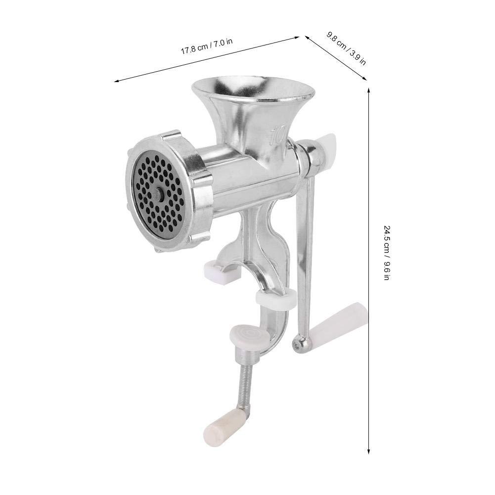 Picadora de carne Manual de operaci/ón manual de aleaci/ón de aluminio Stronerliou herramienta de cocina para el hogar picadora de carne de salchicha