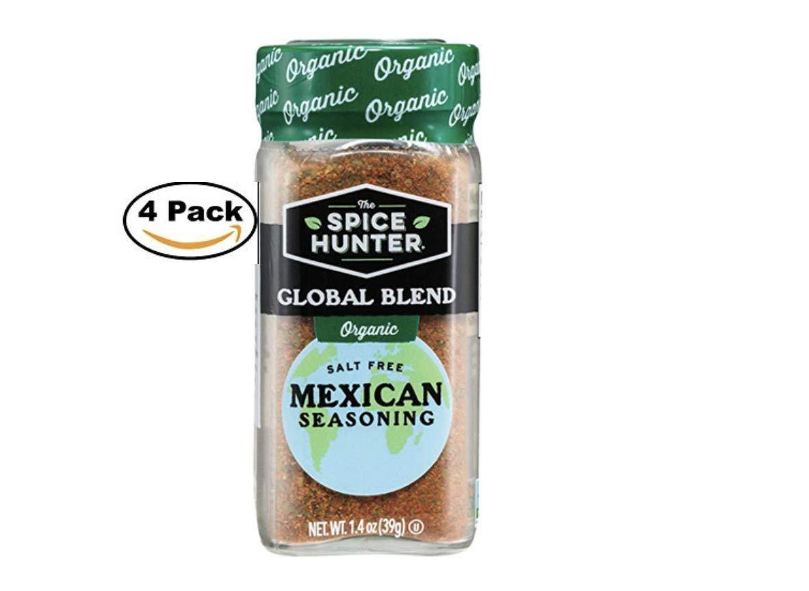 The Spice Hunter Organic Mexican Seasoning Blend, 1.4 oz. jar (4 Pack)