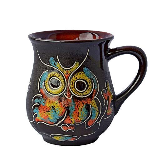 - Handmade Coffee Mugs Pottery Mugs as a Perfect Gift Mug For Mom Dad Women Men Girlfriend Boyfriend Unique Coffee Mugs – Funny Owl (10)
