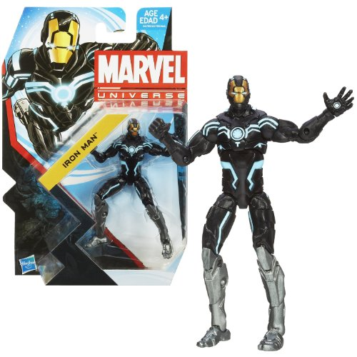 Hasbro Year 2013 Series 5 Marvel Universe Single Pack 4 Inch Tall Action Figure #18 - Zero Gravity Space Armor IRON MAN