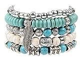 Boho Hippie Bracelet Sets Made with Beads, Leather, Charms and Hemp