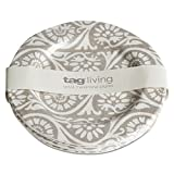 tag - Artisan Melamine Appetizer Plate, Durable, BPA-Free and Great for Outdoor or Casual Meals, Taupe (Set of 4)