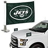 Promark NFL New York Jets Flag Set 2Piece Ambassador Stylenew York Jets Flag Set 2Piece Ambassador Style, Team Color, One Size