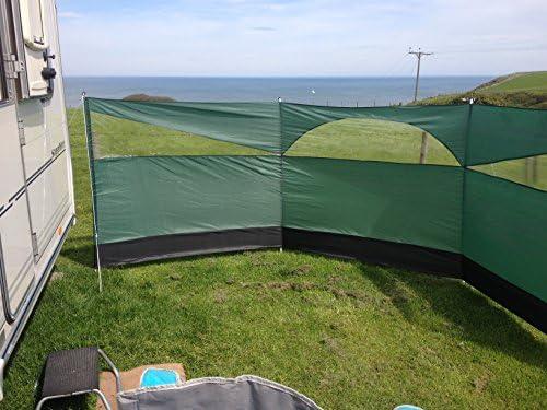 Summit Windschutz, 500 x 150 cm, grün/schwarz