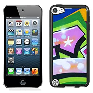 New Beautiful Custom Designed Cover Case For iPod 5 With Graffiti Pink Phone Case