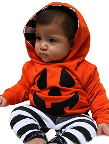 Infant Boys Ghost Hoodie and Harem Pants Baby Halloween Costume size 18-24 Months (Orange) (Pumpkin Sweatshirt Kids)
