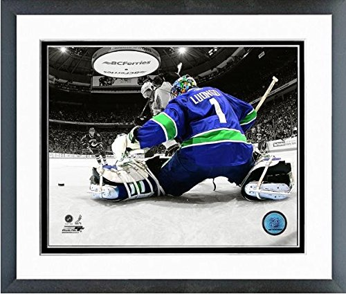Vancouver Canucks Roberto Luongo Framed - Roberto Luongo Vancouver Canucks NHL Spotlight Action Photo (Size: 26.5