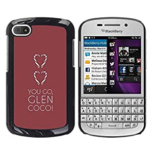 Paccase / SLIM PC / Aliminium Casa Carcasa Funda Case Cover - You Go Heart Maroon Brown Clean - BlackBerry Q10