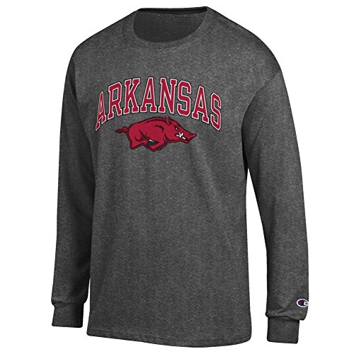 Arkansas Long Sleeve T-shirt - Elite Fan Shop Arkansas Razorbacks Long Sleeve Tshirt Varsity Charcoal - L