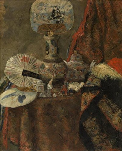 Perfect Effect Canvas ,the Amazing Art Decorative Canvas Prints Of Oil Painting 'James Ensor - Still Life In The Chinoiseries,1880', 10x12 Inch / 25x32 Cm Is Best For Home Office Decoration And Home Artwork And Gifts