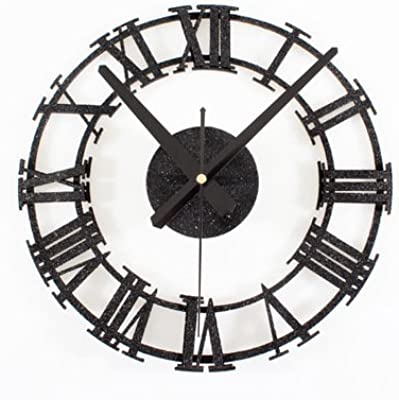 WuuLii Decor Wall Clock- Vintage Wall Clock- Rome Numeral Wall Clock Home Decor Living