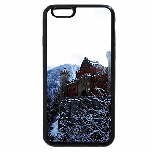 iPhone 6S / iPhone 6 Case (Black) fairytale castle in the mountains in winter