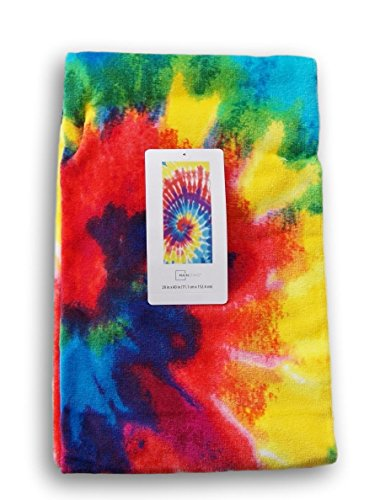 Mainstay Deep Tie Dye Beach Towel - 28 x 60 Inches