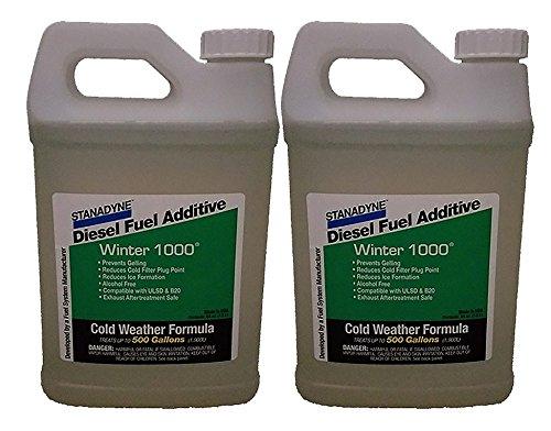 Stanadyne Winter 1000 | 2 Pack of 1/2 Gallon Jugs | Treats 1000 Gal of diesel fuel | Part # 45697