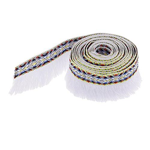 Perfk リボン レース トリム フリンジ 手芸用 縫製 アクセサリー DIY 35mm 3ヤードの商品画像