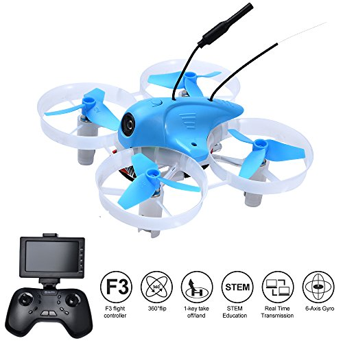 DLFPV Mini UFO Quadcopter Drone with F3 Flight Controller 5.8G Transmitter 6 Axis Gyro Racing Drone Designed for Racer Edition Indoor Drone Quadcopter by DLFPV