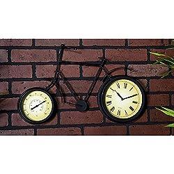 13 in. x 22 in. Metal Therometer Clock