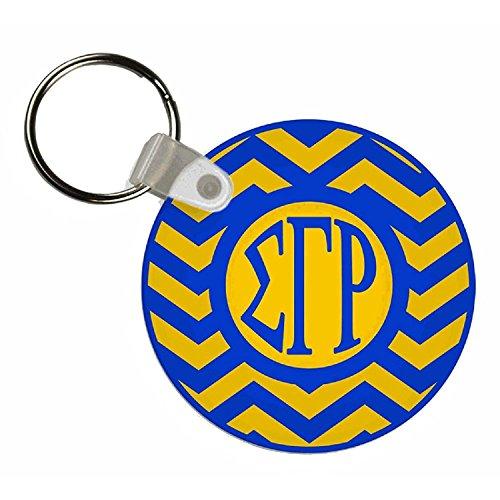 (Sigma Gamma Rho Chevron Keychains)