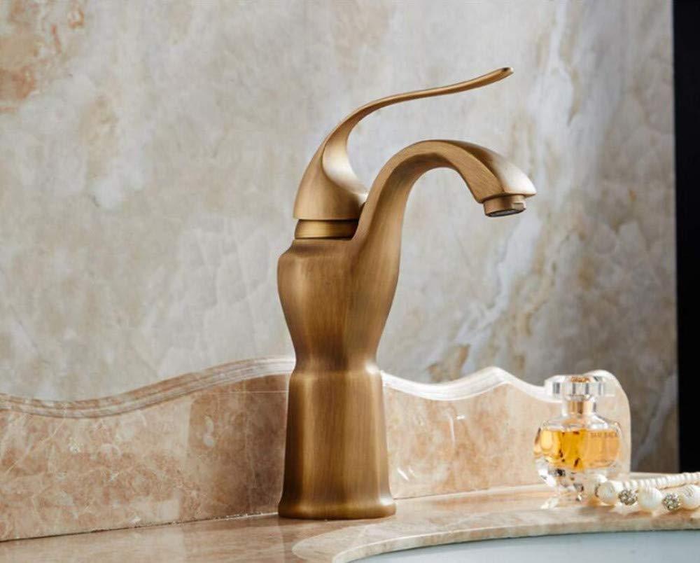 Luxus Überzogene Mischerhahn Wasserhahn Wasserhahn Kupfer Antik Becken Heiß Und Kalt Verdickung Badezimmer Becken Schwarz Bronze Badezimmer