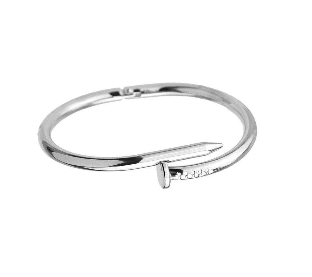 Titanium Steel Nail Love Bangle Bracelet Designer Inspired