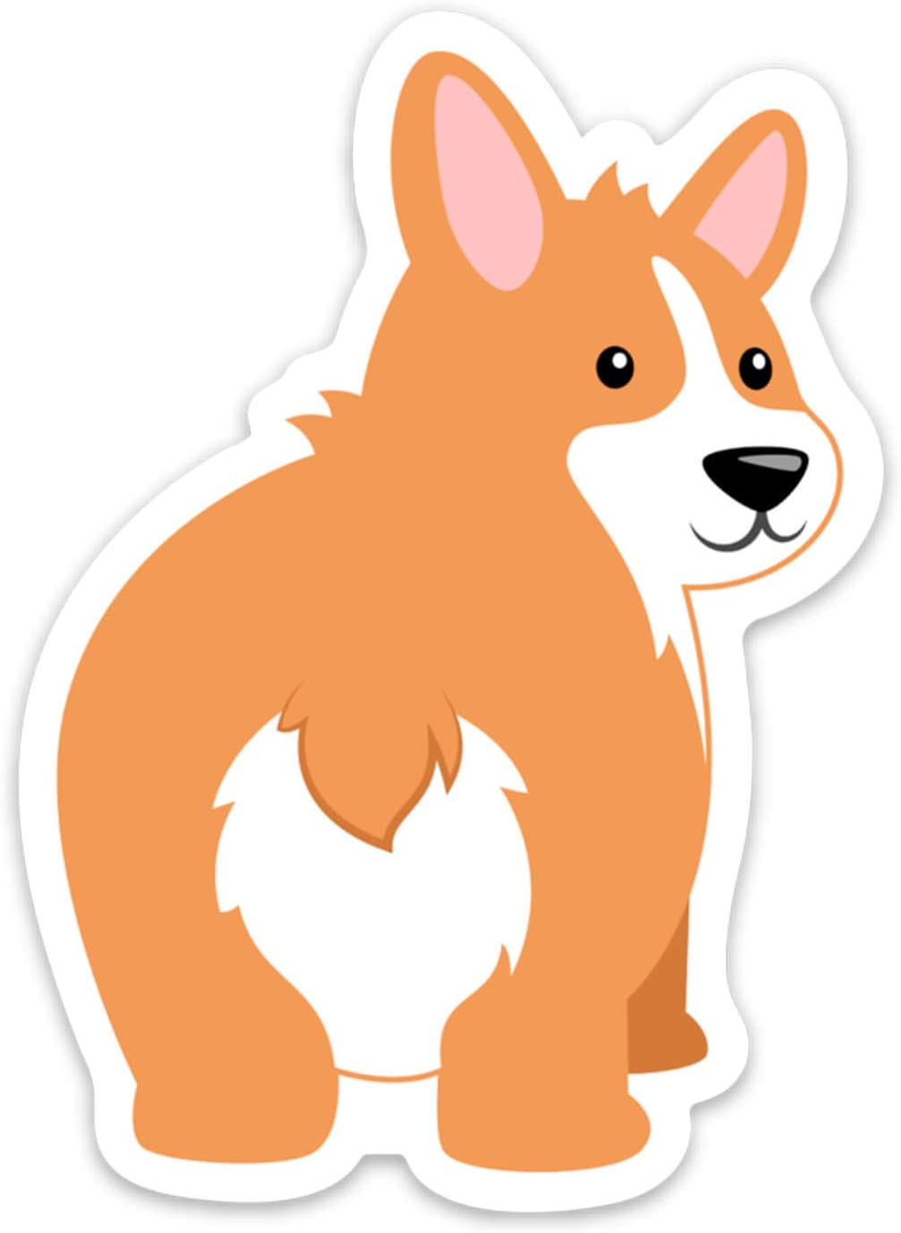 """Stickeroonie Dog Stickers, 4"""" x 3"""" Corgi Dog Sticker, Cute Dog Vinyl Stickers, Skateboard Stickers, Laptop Stickers, Car Decals, Phone Stickers"""