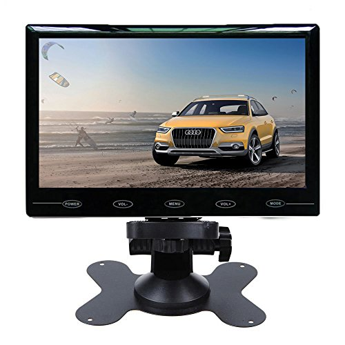 "CAIRUTE® 7"" Ultra Thin HD 1024*600 TFT LCD Color Screen 2 Video Input Car Rear View Headrest DVD VCR Monitor"