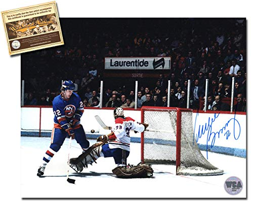 Mike Bossy Autographed Signed 8x10 Hockey Photo Memorabilia Certified with WCA Dual Authentication Holograms and COA