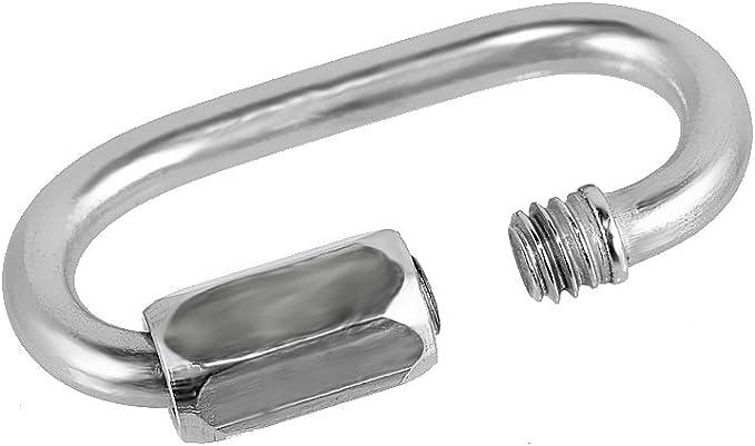 New Stainless Steel Quick Link Marine Grade Carabiner Lock SWL 650KG 6mm