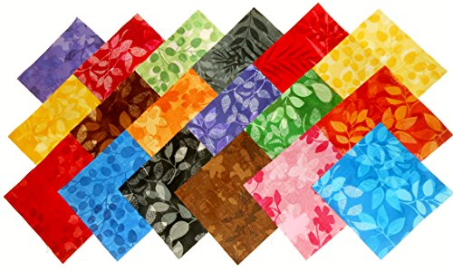 - 72-5 inch Paintbrush Tonals Fabric Squares Charm Pack- Designer Fabric-18 Colors-4 of Each
