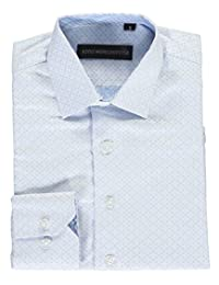"Kids World Big Boys' ""Tonal Squares"" Dress Shirt"