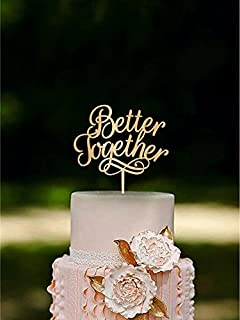 Amazon bride and groom wedding cake topper with child family better together wedding cake topper custom wedding topper love cake topper gold junglespirit Image collections