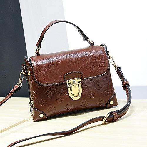 Maerye Borsa a tracolla singola vintage colore solido blocco di metallo borsa femminile A