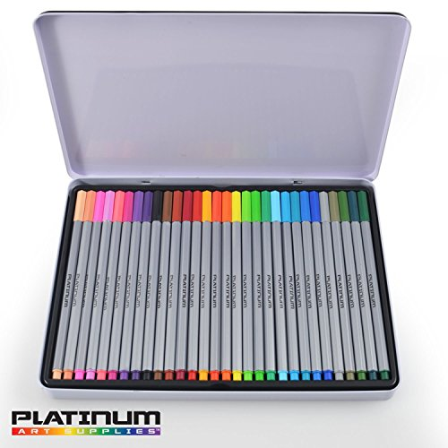 amazoncom fineliner color pen set huge set of 60 coloring pens colorful ultra fine 04mm felt tips in 30 individual colors porous point marker