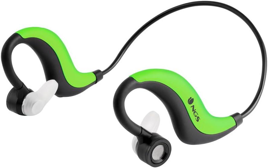 NGS Artica Runner - Auriculares Deportivos de Contorno de Cuello, Color Verde
