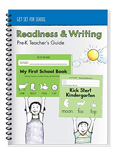 Learning Without Tears - Readiness & Writing Pre-K Teacher's Guide, Current Edition - Get Set for School Series - Pre-K Writing Book - Pre-Writing Skills - for School or Home Use ()