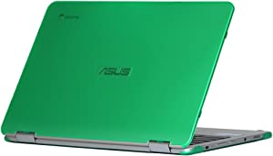 mCover iPearl Hard Shell Case for 12.5-inch ASUS Chromebook Flip C302CA Series Laptop - Green