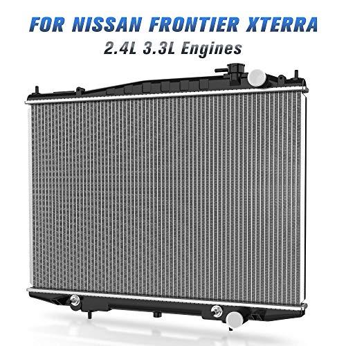 Complete Radiator for 1998-2004 Nissan Frontier 2.4L,1999-2004 Nissan Frontier 3.3L, 2000-2004 Nissan Xterra 2.4L 3.3L DWRD1015 ()