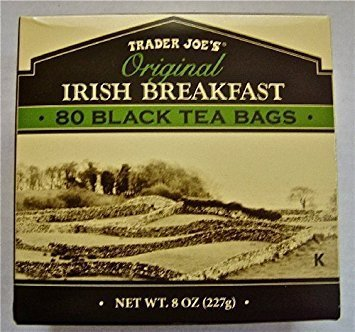 2 X Trader Joe's Original Irish Breakfast Tea (80 Black Tea Bags Per (Irish Breakfast Green Tea)