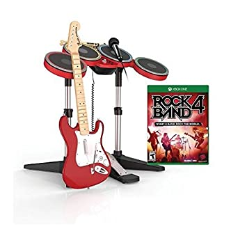 992baca68e ROCK BAND 4 RED FULL BAND-IN-A-BOX BUNDLE  T   Microsoft Xbox One  Computer  and Video Games - Amazon.ca