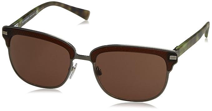 6a0a91cd8c5 Burberry Men s BE4232 Sunglasses Brushed Gunmetal Matte Brown Brown 56mm