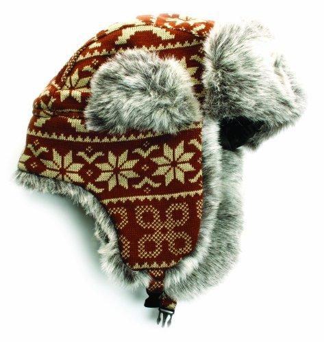 590f99bd23a76 Amazon.com  City Hunter W370 Nordic Deer Trapper Ski Hat (BROWN ...