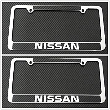 2x License Plate Frame Holder Chrome Plated Metal RustFree Durable