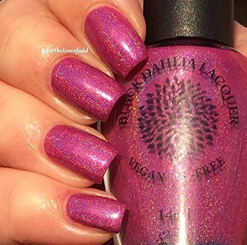 (Velvet Magnolia | Magenta Holo Nail Polish with Strong Blue Flash | by Black Dahlia)