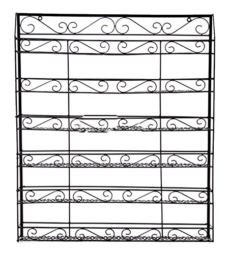 5 Shelf Nail Polish Wall Rack, Ferty Large Professional DIY Metal Nail Polish or Essential Oils Bronze Display Organizer Rack Holds 120 Bottles, Black [US STOCK] (Lime Bronze Wall)