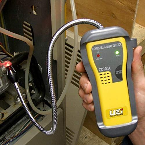 Excelente calidad LCD digital Detector de gas combustible Automoci/ón Localizaci/ón de fugas Determinar alarma Tester Analizador de Gas con la luz de sonido